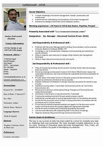 cv document controller With documents control resume