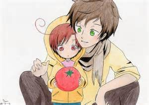 Hetalia Spain and Chibi Romano Cute