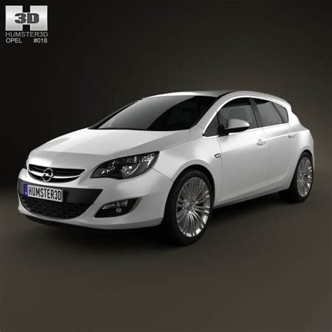 Opel Automobile Models by Opel Astra J Hatchback 5 Door 2012 3d Model From Humster3d