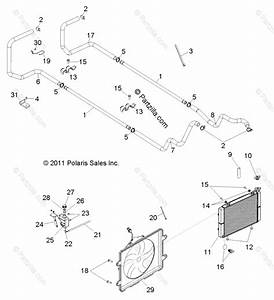 Polaris Side By Side 2013 Oem Parts Diagram For Engine  Cooling System