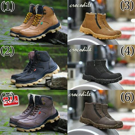 jual sepatu boots pria keren sepatu kickers safety suede mercy di lapak andre shop bandung
