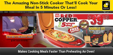 red copper  minute chef   nonstick cooker  prepares food  minutes   work