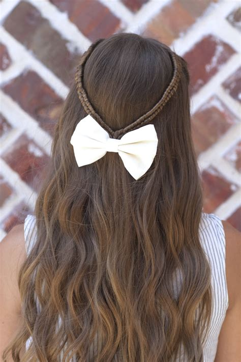 infinity braid tieback back to school hairstyles cute hairstyles