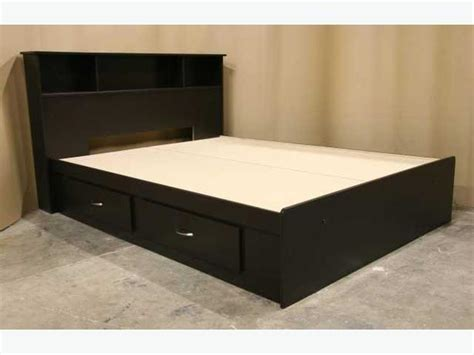 espresso brown full size double captains bed frame