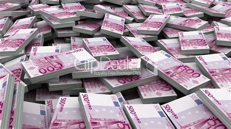 pile  euro  currency stacks loop royalty