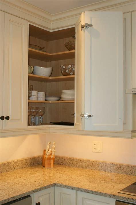 blind corner upper cabinet solutions corner kitchen