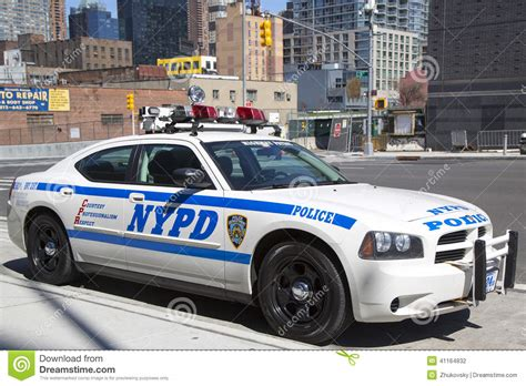 nypd highway patrol car  manhattan editorial photography