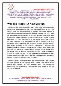 Essay For High School Students War And Peace Essay Ideas  Examples Of Speech Essay Sample Apa Essay Paper also Research Paper Vs Essay War And Peace Essays A Written Proposal War And Peace Essays For  The Thesis Statement In A Research Essay Should
