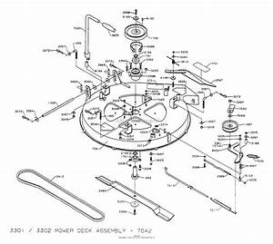Dixon Ztr 3301  1994  Parts Diagram For Mower Deck Assembly