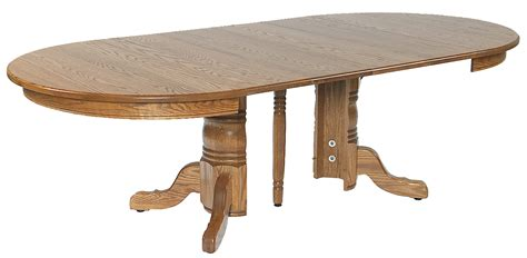 single split pedestal table amish furniture