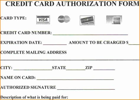 The recurring credit card authorization form is a document that will authorize a company (ie: 25+ Credit Card Authorization Form Template - Free Download!!