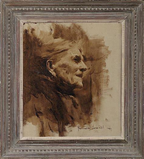 Romualdo locatelli , bergamo 1905 , manila 1943 composizione con frutta e vaso olio su tela (cm 60x85). ROMUALDO LOCATELLI (Italian, 1905-1943), face of a