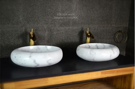 bathroom sink square 500mm oval white marble room wash basin sink