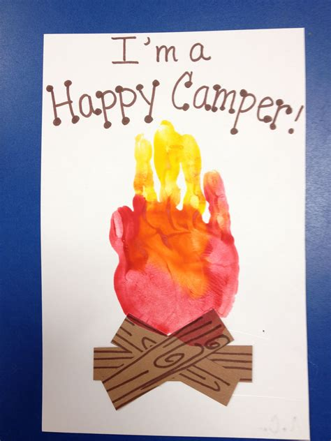 handprint campfire with s mores camping crafts and ideas 988 | d5f4cebe7b4d6f7eaf6fd8e7d9097b07