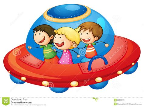 Kids In Spaceship Stock Vector. Illustration Of Space