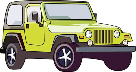 yellow jeep clipart automobiles clipart yellow jeep softop clipart