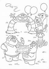 Coloring Pages Monsters University Popular sketch template