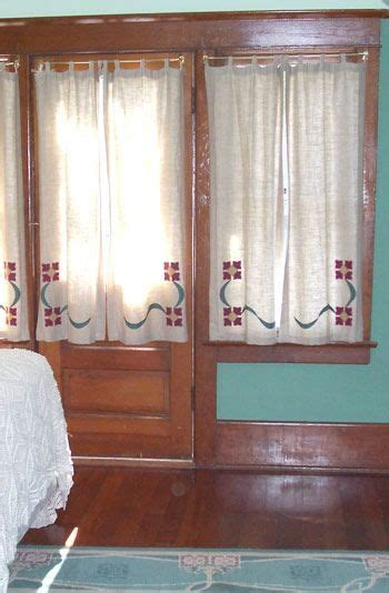 arts  crafts style curtains  images craftsman