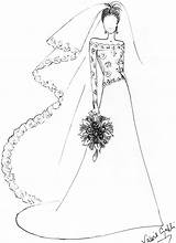 Drawing Sketches Dresses Easy Drawings Simple Gown Prom Coloring Pages Colouring Sketch Draw Designs Bride Line Getdrawings Designer Weddings Sweet sketch template