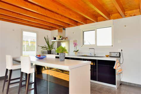 construction cuisine maison bioclimatique ossature bois construction de