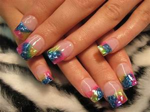 glittery nail