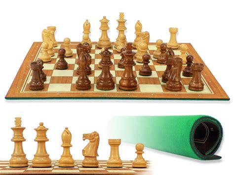 Unique Staunton Wooden Chess Set Pieces-/