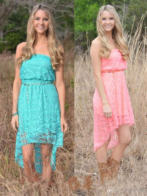 high  lace country junior bridesmaid dresses cheap