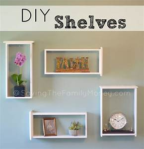 Beautiful DIY Wall Shelves of Used Drawers