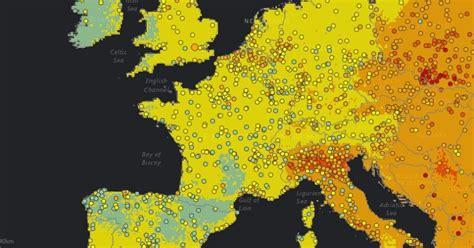 Carte Pollution Europe by Voici La Carte Des Villes Les Plus Pollu 233 Es De