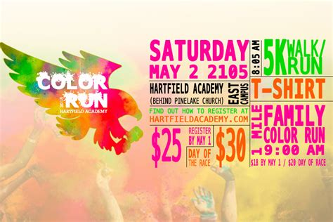 color run charity poster design for color run 5k charity nuzu net media