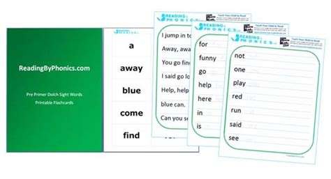 dolch primer learning to read with abc phonics activities and printable