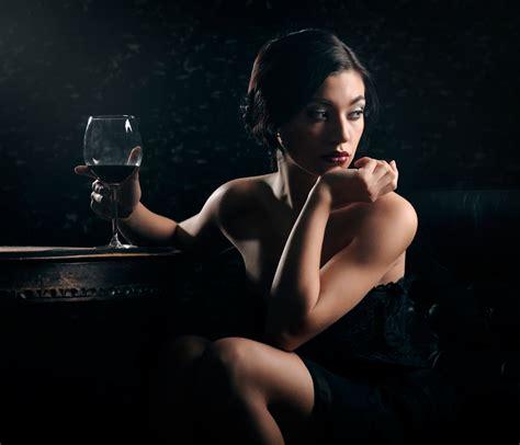 girl   glass  wine sci fi hd wallpaper