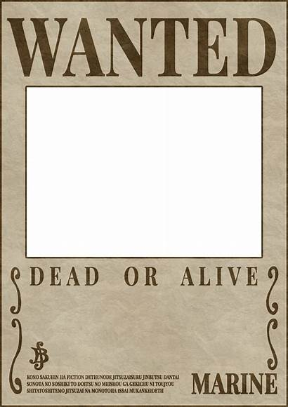 Wanted Piece Poster Template Templates Alive Dead