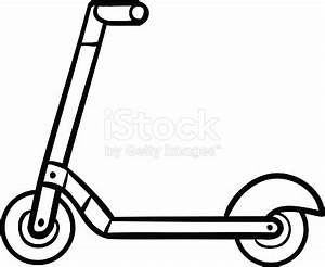 Coloring Book For Kids Kick Scooter stock vector art ...