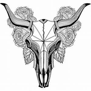Tete De Buffle : sticker boh me t te de buffle avec fleurs stickers animaux animaux d 39 afrique ambiance sticker ~ Teatrodelosmanantiales.com Idées de Décoration