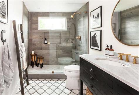 Modern Rustic Bathroom Tile by Farmhouse Bathroom Featuring White Walls Marble