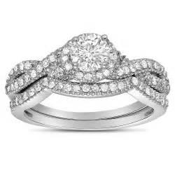 white gold wedding ring sets 2 carat infinity wedding ring set in white gold for jeenjewels