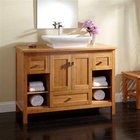 Wonderful Bathroom Vanity Design With All Wooden Modern