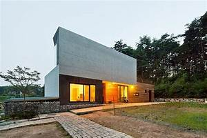 Modern Countryside Residence in South Korea: Living Knot ...