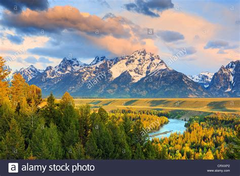 Sunrise At The Snake River Overlook At Grand Teton