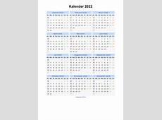 Kalender 2022 Jaarkalender en Maandkalender 2022 met