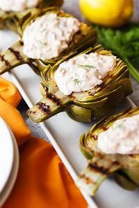 tuna stuffed grilled artichokes the pkp way