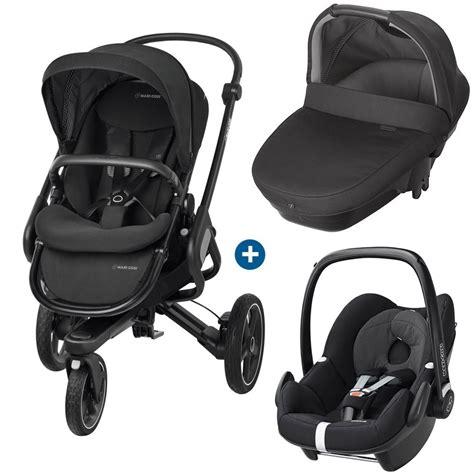 siege auto promo trio poussette 3 roues nacelle coque bébé