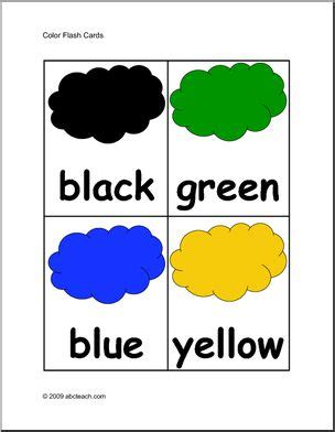 Flashcards Colors (elementary)  Colors With Words Abcteach