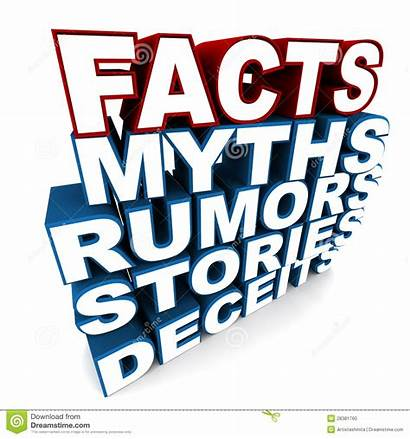 Facts Fact Myths Clipart Stories Word Rumors