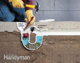 How To Remove Odor From Basement by How To Unclog A Drain The Family Handyman