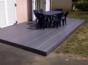 Terrasse Lame Composite : terrasse bois composite gris caklies ~ Edinachiropracticcenter.com Idées de Décoration