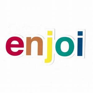 Enjoi Skateboards Enjoi Spectrum Logo Skateboard Sticker ...