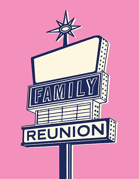 family reunion illustrations royalty  vector graphics