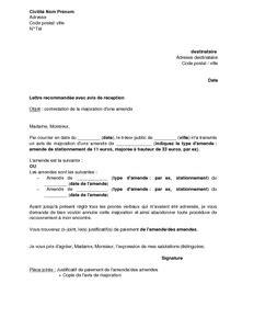 lettre type contestation amende exemple gratuit de lettre contestation majoration une amende et envoi justificatif paiement
